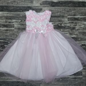 Special Occasion pink and white dress. Size 3T